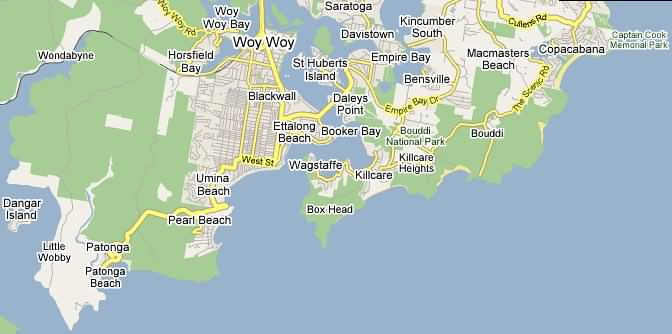 map of central coast nsw pdf